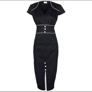 LINDY BOP 1940's-50's pencil wiggle dress NWT'S